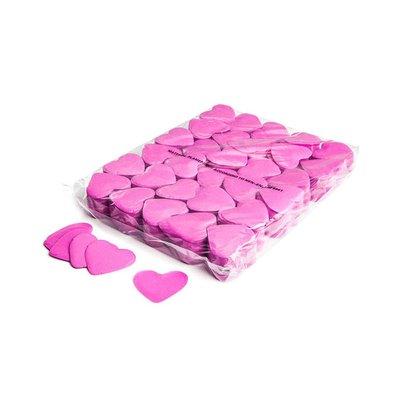 MagicFX Slowfall confetti hartjes 55mm roze