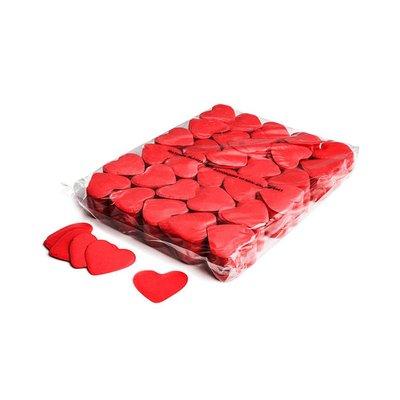 MagicFX Slowfall confetti hartjes 55mm rood