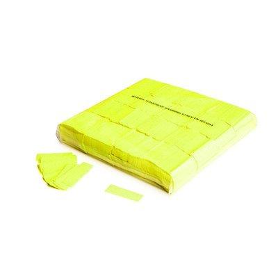 MagicFX Slowfall UV confetti 55x17mm Fluo geel