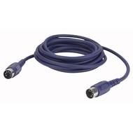 DAP FL50 5-pins DIN MIDI kabel 10m 3-pins aangesloten