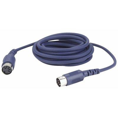 DAP FL52 5-pins DIN MIDI male-female kabel 3m 5-pins aangesloten
