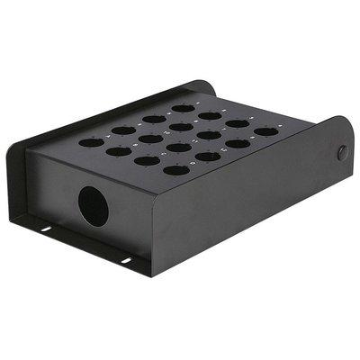 DAP FSB16E lege stagebox 16 gaten zwart