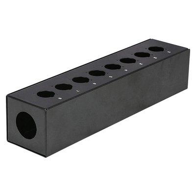 DAP FSB8E lege stagebox 8 gaten zwart