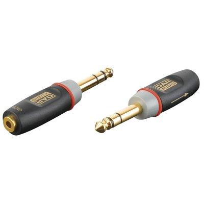 DAP Xcaliber XGA12 Jack male stereo naar Mini Jack female mono verloopplug