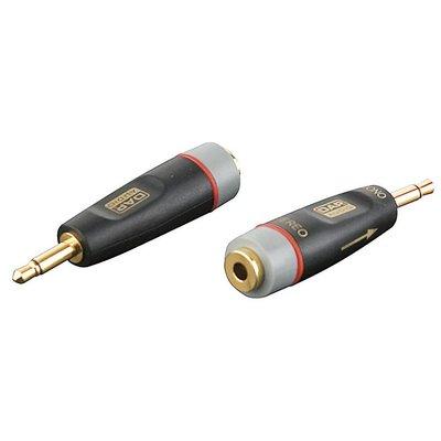 DAP Xcaliber XGA43 Mini Jack male mono naar Mini Jack female stereo verloopplug