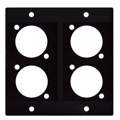 DAP D-size paneel 2 segmenten 4x D-Size