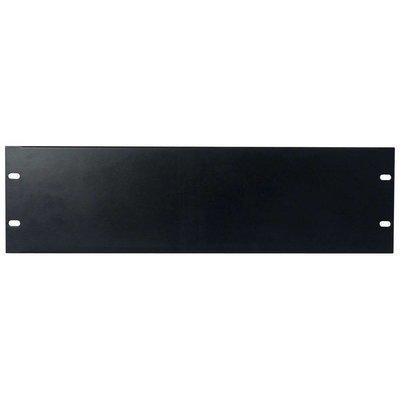 DAP 19 inch blindplaat 3 HE U-vorm zwart