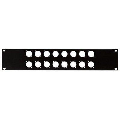 DAP 19 inch rackpaneel 16x D-hole 2HE