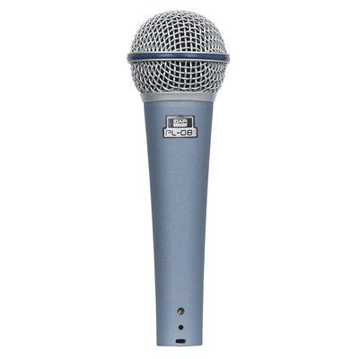 DAP PL-08B Dynamische microfoon met 6m kabel