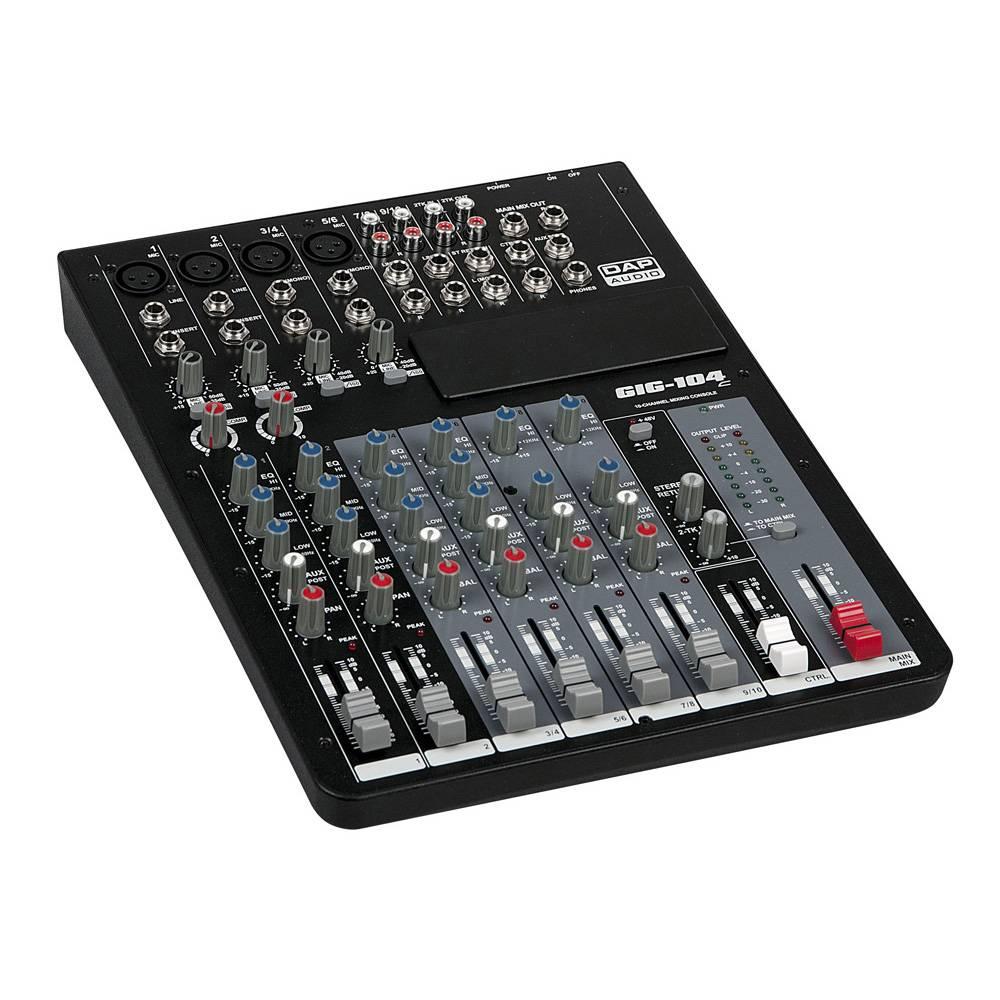 Image of DAP GIG-104C 10-kanaals mixer met dynamics