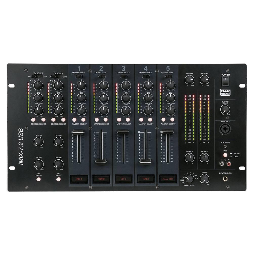 Image of DAP IMIX-7.2 USB 7-kanaals installatie mixer
