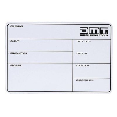 DMT Flightcase Label 113x170mm zelfklevend