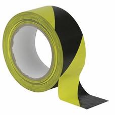 Showtec Vloer-markeringstape 50mm zwart-geel
