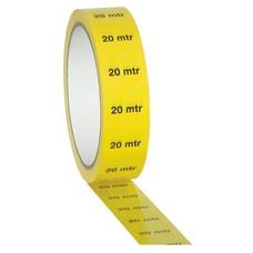 Showtec PVC markeringstape 20m indicatie geel