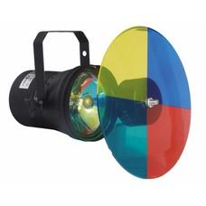 Showtec Par 36 puntspot met kleurenwiel