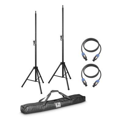 LD Systems Dave 8 Statievenset met luidsprekerkabels en draagtas