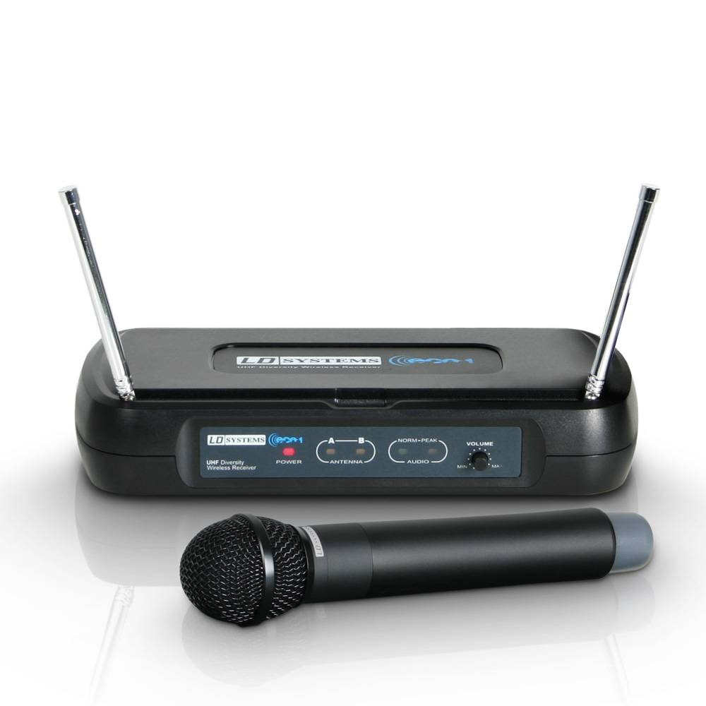 LD Systems WS ECO2 HHD1 Draadloze handheld microfoon 863.100MHz