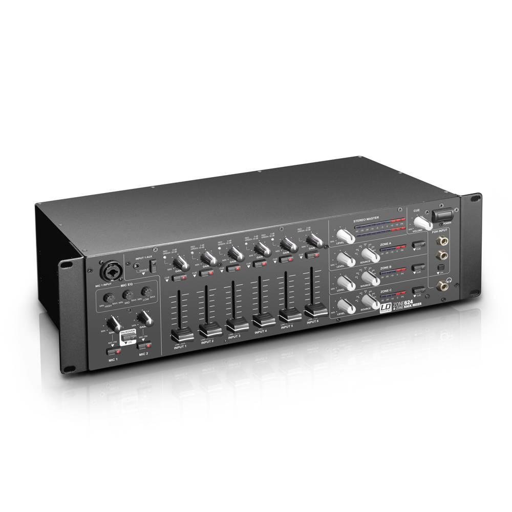 Image of LD Systems Zone624 6-kanaals zone mixer