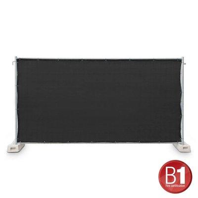 Adam Hall Hekwerk windscherm gaasdoek 341 x 176cm zwart
