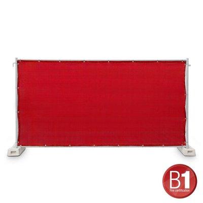 Adam Hall Hekwerk windscherm gaasdoek 341 x 176cm rood