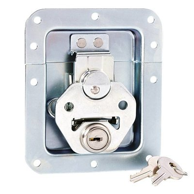 Adam Hall 17290LS Medium inbouw vlinderslot met slot 14mm diep