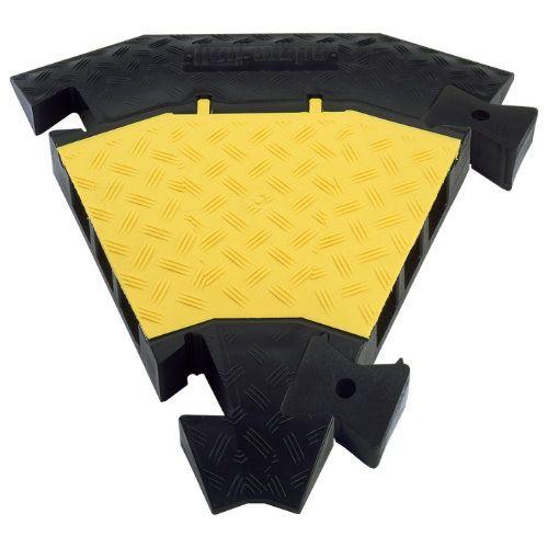 Image of Bochtstuk voor Defender III Zwart-geel Adam Hall Inhoud: 1 stuks