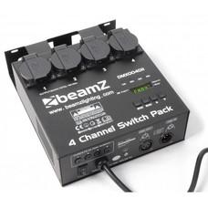Beamz 4-kanaals DMX switchpack