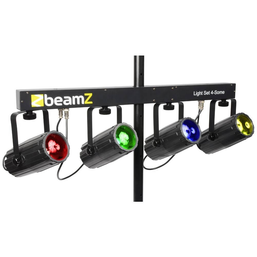 Image of Beamz 4-Some lichtset 4x57 RGBW LEDs zwart