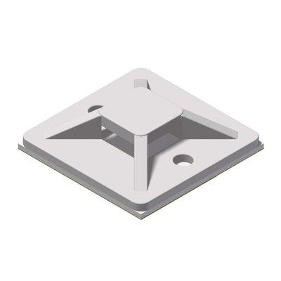Procab ACM130/W Kabelbinderhouder 30x30mm wit (100 stuks)