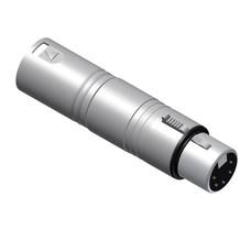 Procab VC150 XLR male 3p naar XLR female 5p adapter