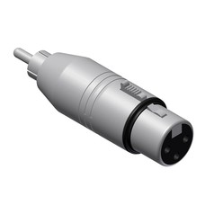 Procab VC130 XLR female naar RCA male adapter
