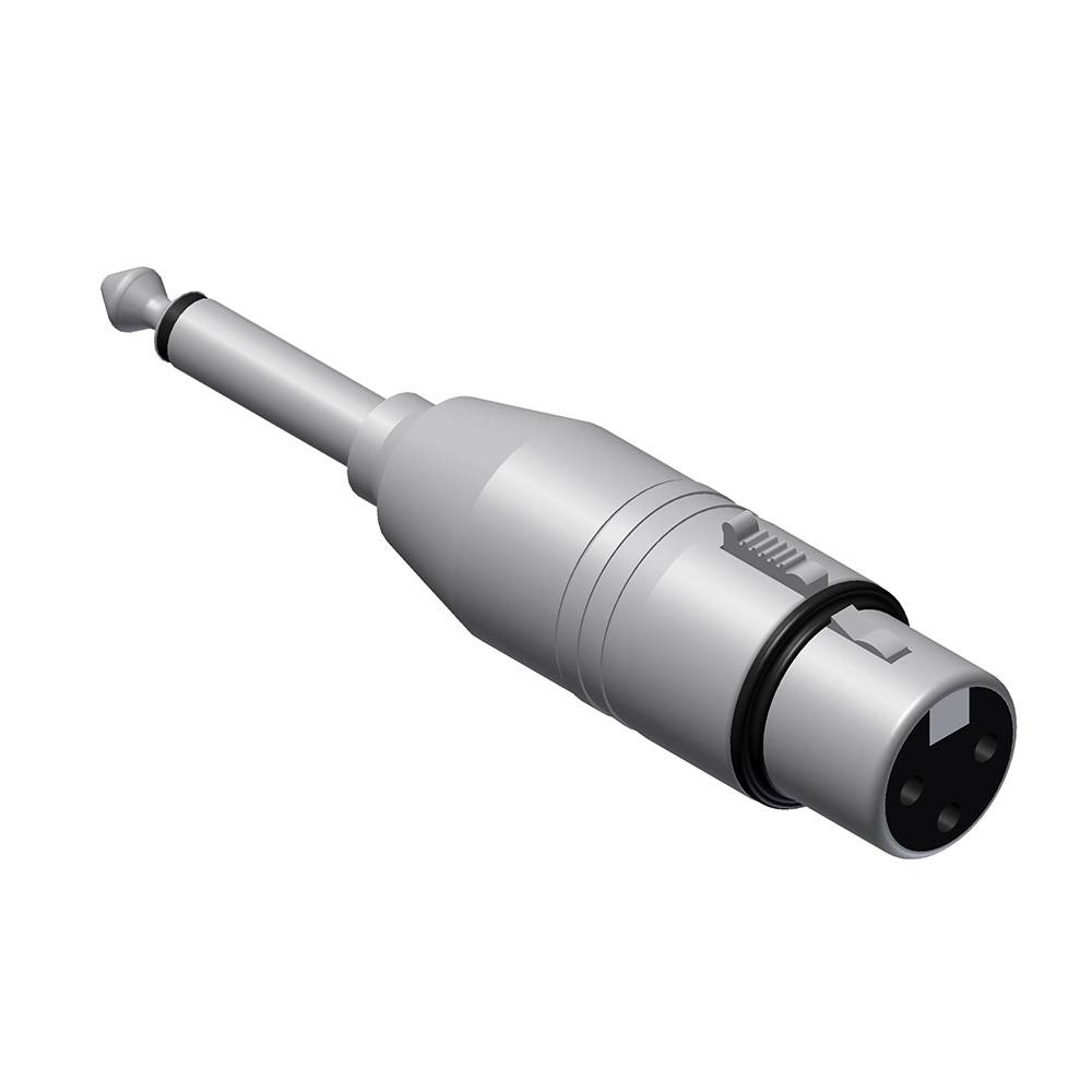 Procab VC121 XLR female naar Mono jack male adapter