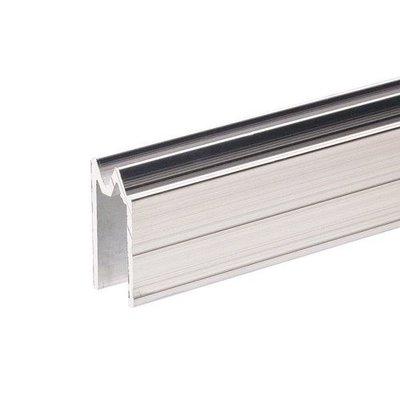 Adam Hall Aluminium omkeer sluitprofiel 9,5mm met grote oversteek