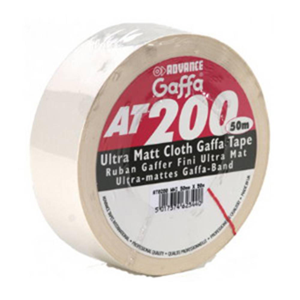 Image of Advance AT200 gaffa tape 50mm 50m wit