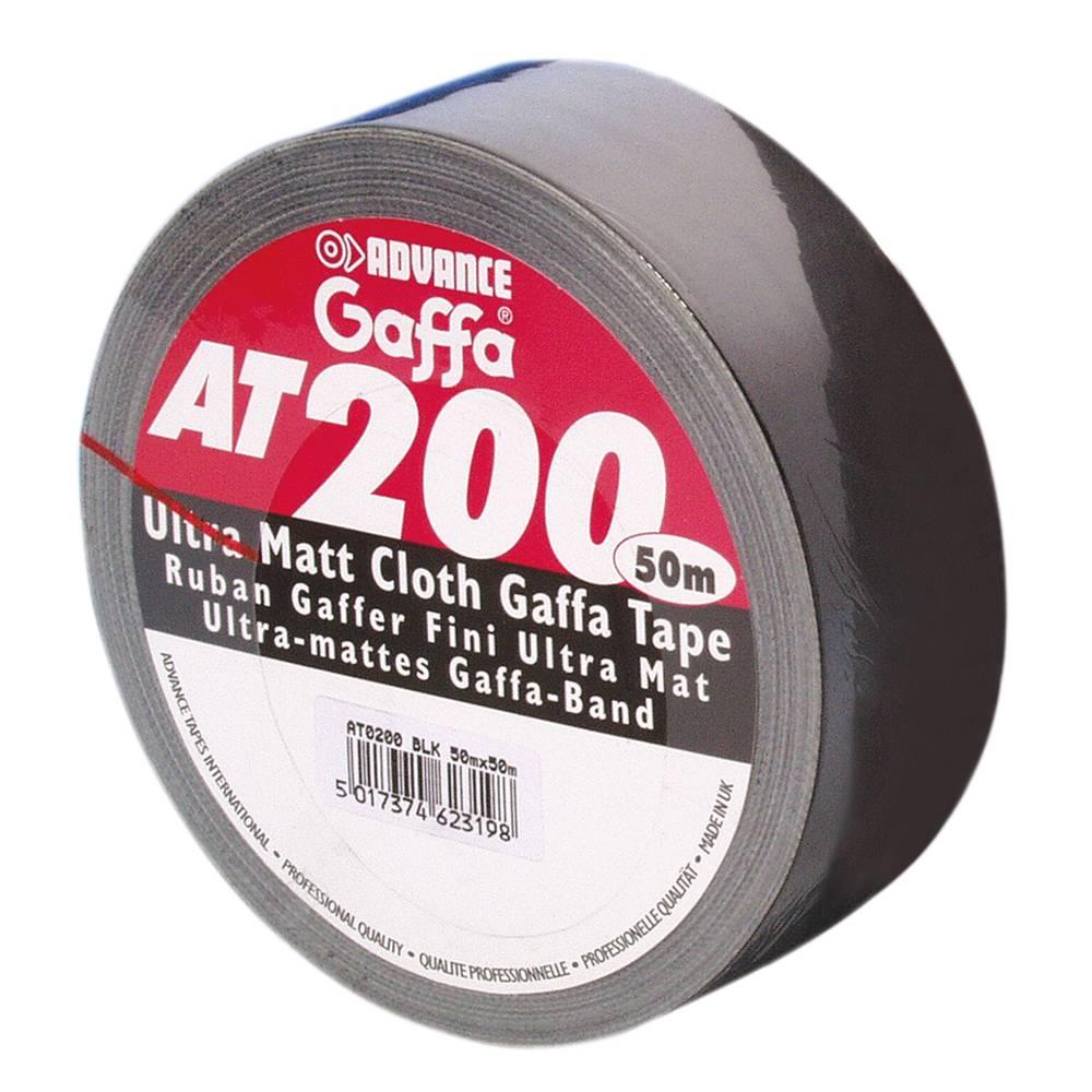 Image of Advance AT200 gaffa tape 50mm 50m zwart
