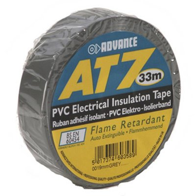 Advance AT7 PVC tape 19mm 33m grijs