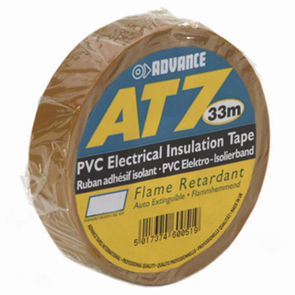 Image of Advance AT7 PVC tape 19mm 33m bruin