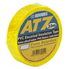 Advance AT7 PVC tape 19mm 33m geel