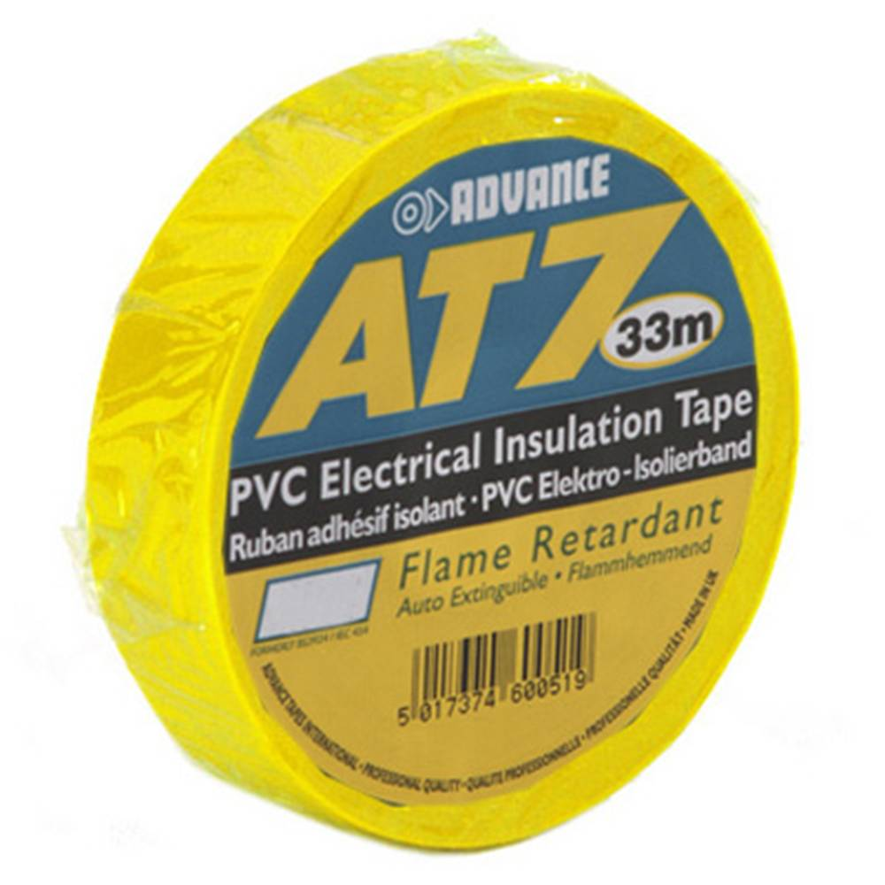Image of Advance AT7 PVC tape 19mm 33m geel