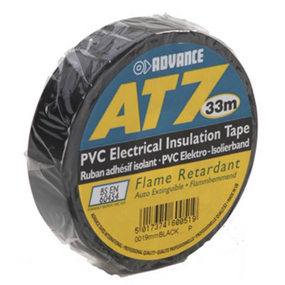 Image of Advance AT7 PVC tape 19mm 33m zwart