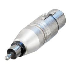 Neutrik NA2FPMM XLR female naar RCA male adapter