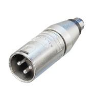 Neutrik NA2MPMF XLR male naar RCA female adapter