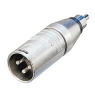 Neutrik NA2MPMM XLR male naar RCA male adapter