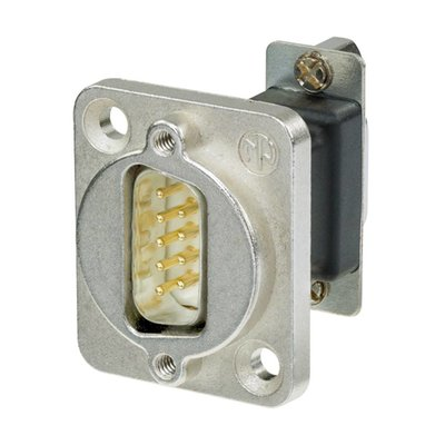 Neutrik NADB9MF DSUB9 male - female doorvoer zilver