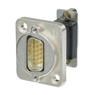 Neutrik NADB15MF VGA DSUB15 male - female doorvoer zilver