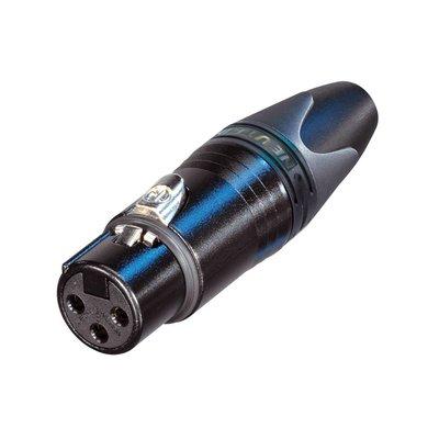 Neutrik NC3FXX-BAG Female XLR kabeldeel 3p zwart