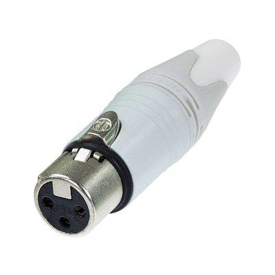 Neutrik NC3FXX-WT Female XLR kabeldeel 3p wit