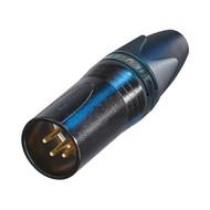 Neutrik NC4MXX-B Male XLR kabeldeel 4p zwart