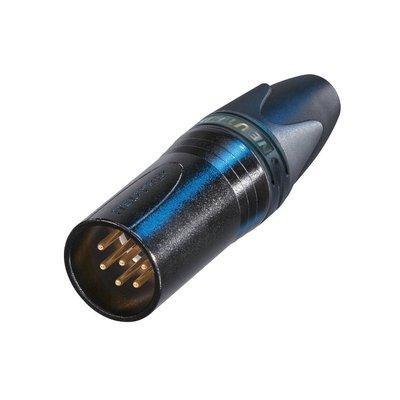Neutrik NC6MXX-B Male XLR kabeldeel 6p zwart