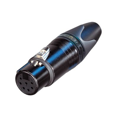Neutrik NC7FXX-BAG Female XLR kabeldeel 7p zwart